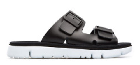 Camper Oruga Sandals in Black Leather, Our Beautiful Price $119