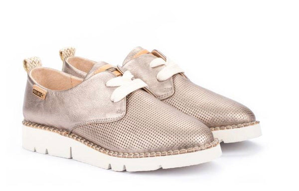 Pikolinos Vera W4L-6780CL Lace-Up Walking Shoe, Leather, Stone Color, Our Beautiful Price $199