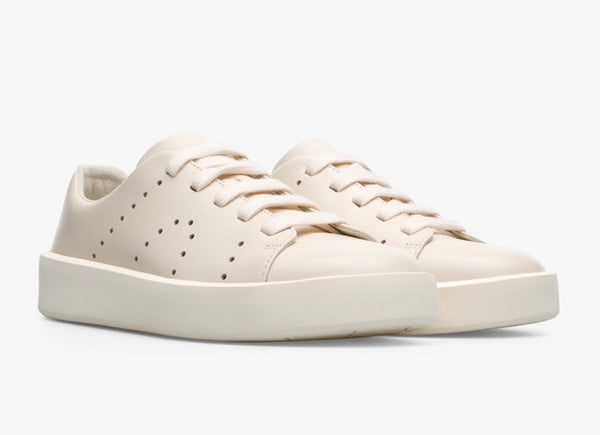 Camper K200828-001 Courb Sneaker in Cream White Leather, Our Beautiful Price $169