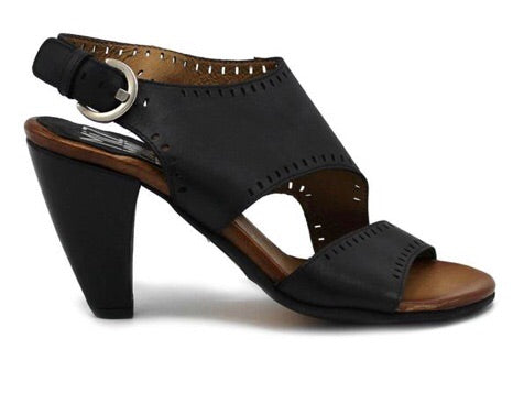 Miz Mooz Pasco Sandals in Black Leather, Our Beautiful Price $209