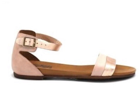 Miz Mooz Atlantic in Rose Pink Flat Sandals in Leather$139, Our Beautiful Price $119