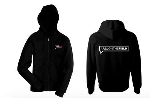 #AllOnTheField Zip Up Hoodie