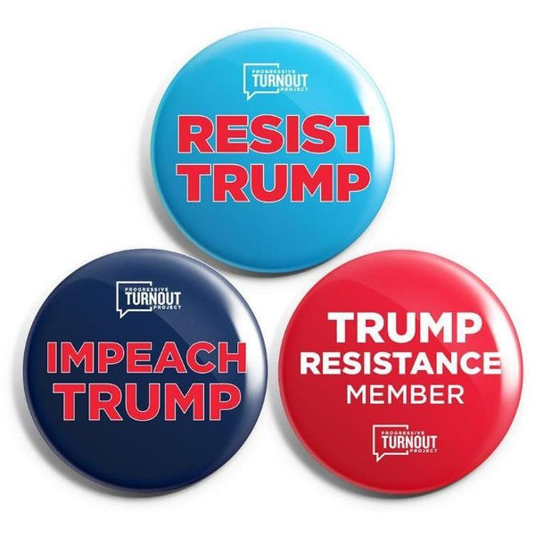 Resist Trump Button Set