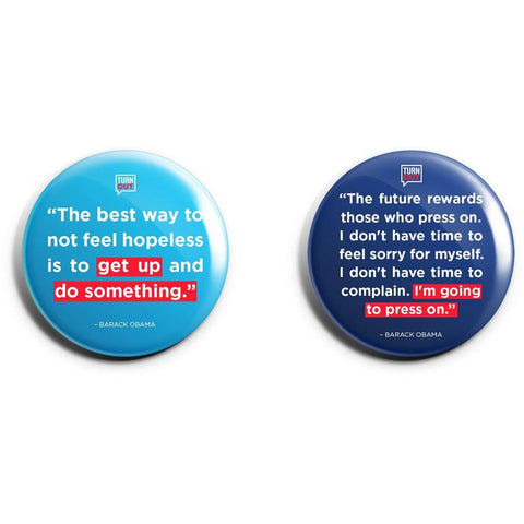 Obama Quote Button set!