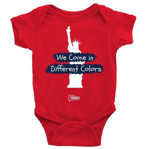 We Come in Different Colors Onesie (Red)