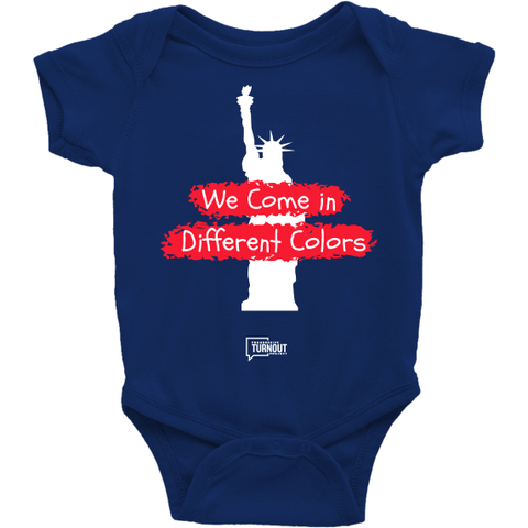 We Come in Different Colors Onesie (Blue)