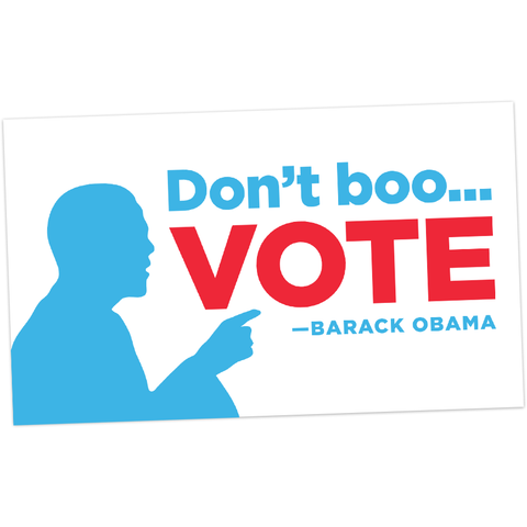 Don't Boo, Vote! Sticker (3 pack)