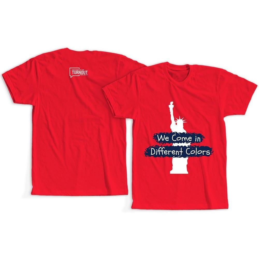 We Come in Different Colors Toddler T-Shirt (Red)