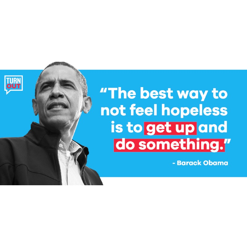 Obama Quote Sticker (3 pack)