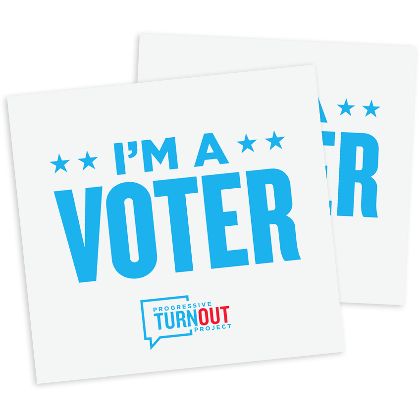"""I'm a Voter!"" Window Cling (set of 2)!"