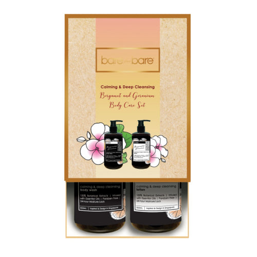 Bare for Bare Calming & Deep Cleansing Bergamot & Geranium Body Care Set