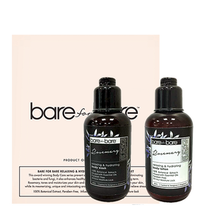 Bare For Bare Relaxing & Hydrating Rosemary Mini Body Care Set (2 x 60ml)