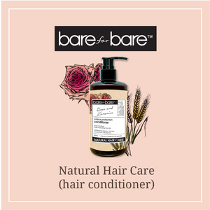 Bare for Bare Colour Protection Hair Conditioner- Rose & Kerarice 300ml