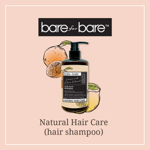 Bare for Bare Natural Scalp Repair Hair Shampoo- Lemon & Citrus 300ml