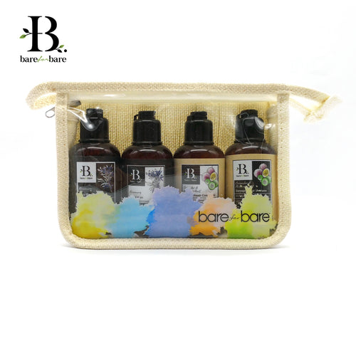 Bare for Bare Travel Pouch Hydrating Set