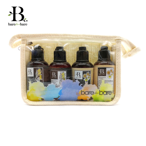 bare for bare travel pouch invigorating set
