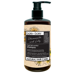 Bare for Bare Natural Hair Fall Control Hair Shampoo- Chamomile & Lily