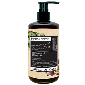 Bare for Bare Natural Damage Repair Hair Shampoo- Cucumber & Passion Fruit