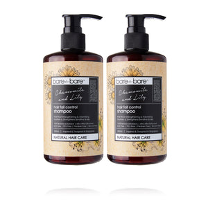 Earth Day Special: (BUY 1 GET 1 FREE) Bare for Bare Natural Hair Fall Control Hair Shampoo- Chamomile & Lily 300ml