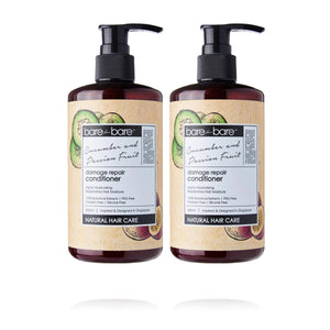 Earth Day Special: (BUY 1 GET 1 FREE) Bare for Bare Damage Repair Hair Conditioner- Cucumber & Passion Fruit 300ml
