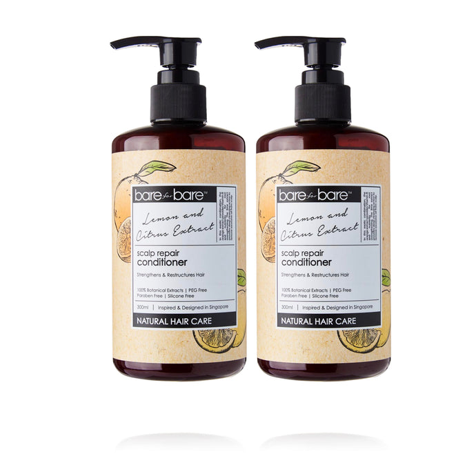 Earth Day Special: (BUY 1 GET 1 FREE) Bare for Bare Scalp Repair Hair Conditioner- Lemon & Citrus 300ml