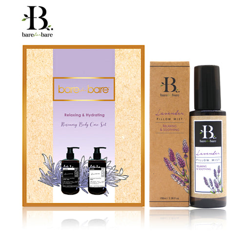 Bare for Bare Mother's Day Rosemary Body Care & Lavender Pillow Mist Gift Set