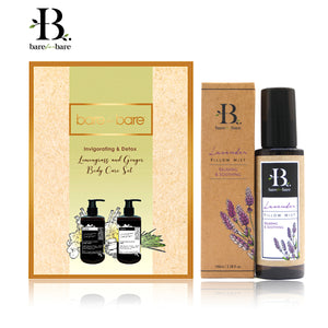 Bare for Bare Mother's Day Lemongrass & Ginger Body Care & Lavender Pillow Mist Gift Set