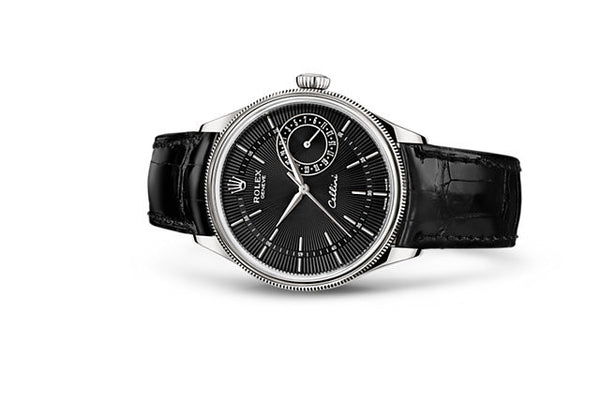 Rolex Cellini Date 39 mm, 18 Ct White Gold, Polished Finish
