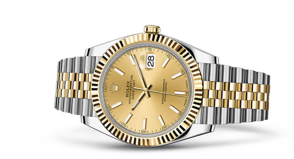 Rolex Datejust 41 Steel and Yellow Gold Fluted Bezel