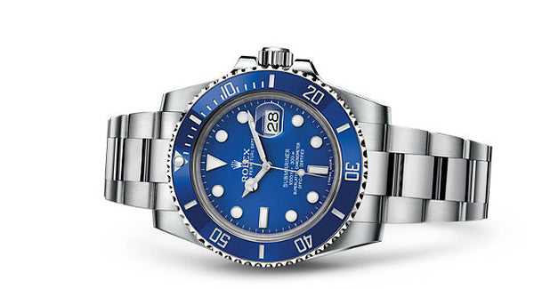 Rolex Submariner Date White Gold Blue Cerachrom
