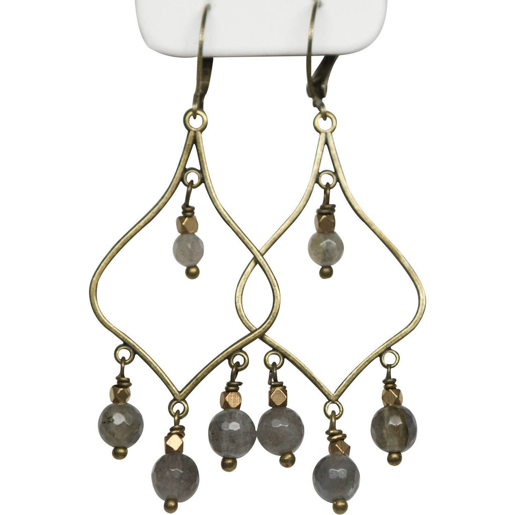 Labradorite chandelier earring added touch by arielle earrings labradorite chandelier earring aloadofball Image collections