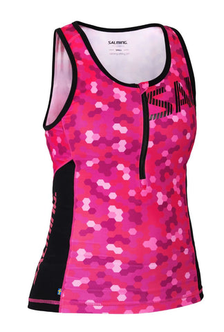 Triathlon Singlet Women - Pink/Black