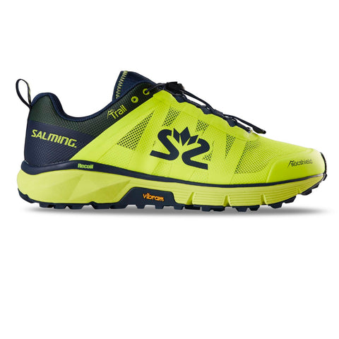 Salming Trail 6 Running Shoe Men Safety Yellow / Navy Blue