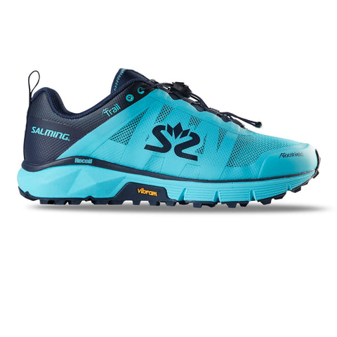 Salming Trail 6 Running Shoe Women New Light Blue / Navy Blue