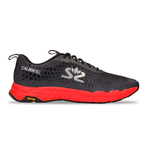 New! Salming Greyhound Running Shoe Men Black Orange