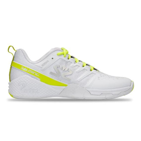 Salming Kobra 3 Women White Lime Squash Shoe