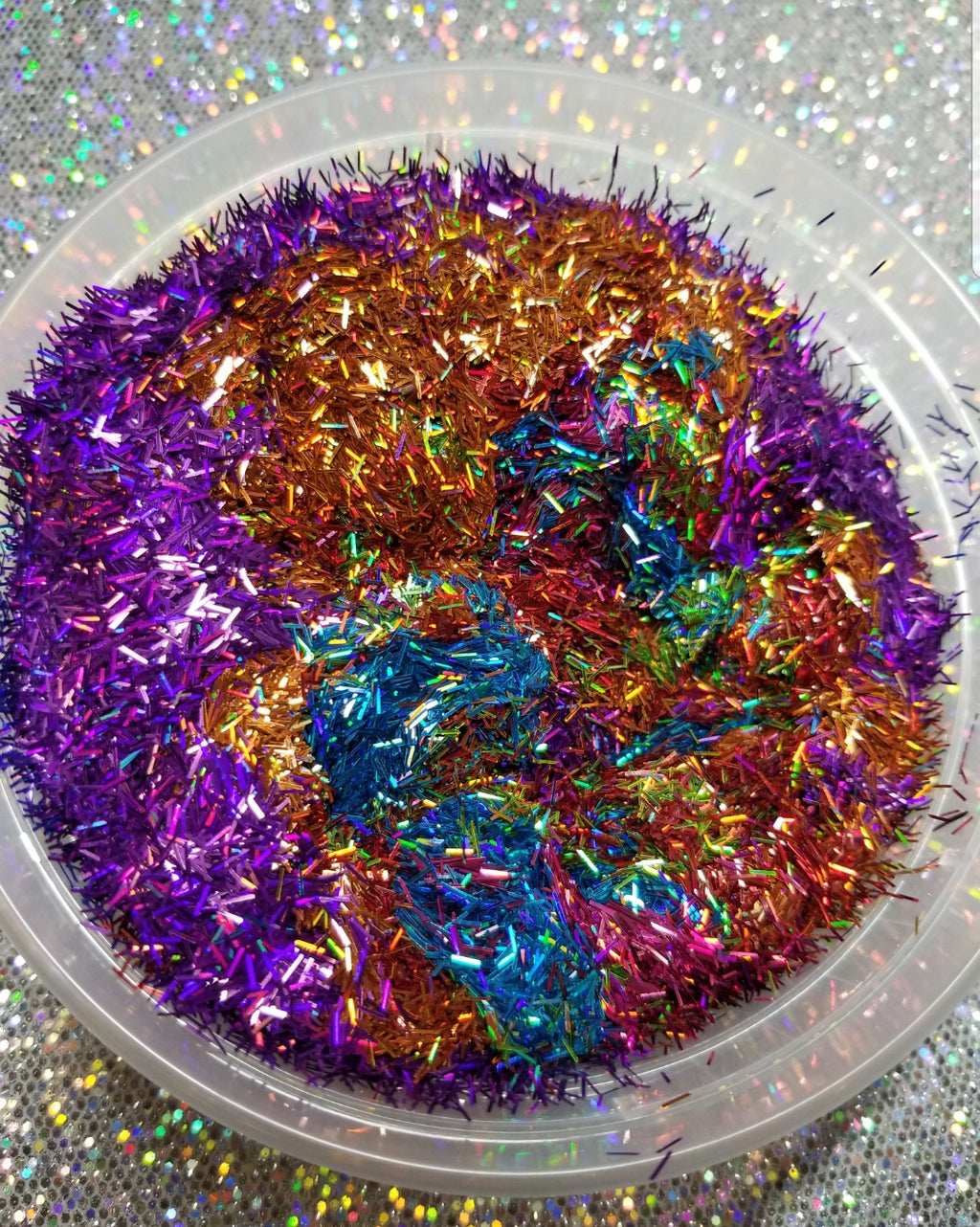 Rainbow tinsel