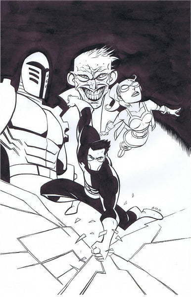 Powers #7 original cover art