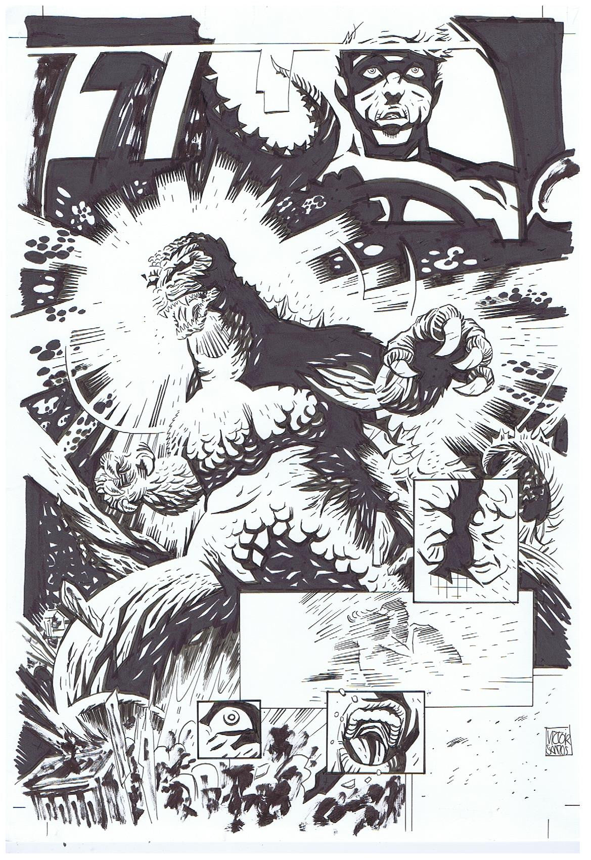 Godzilla Interior Splash Page + Layout