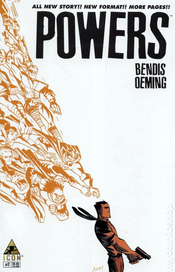 Powers #7 original wrap-around cover art SIGNED BY BENDIS & OEMING!