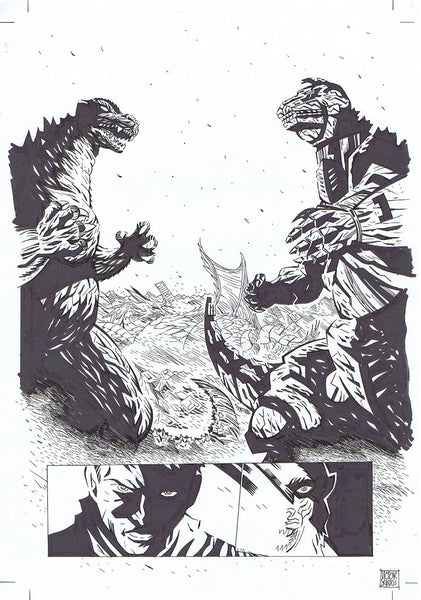 GODZILLA INTERIOR PAGE + LAYOUT FEATURING MECHAGODZILLA