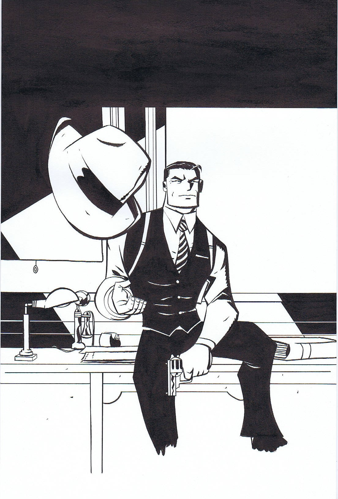 DICK TRACY: FOREVER #1 - COVER ART + WARM UP ART