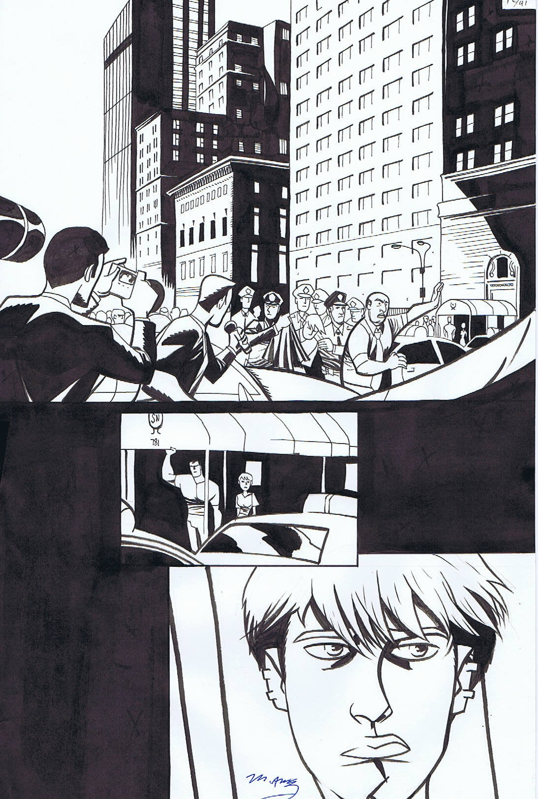 Copy of POWERS V.II #12 INTERIOR PAGE FEATURING DEENA & WALKER