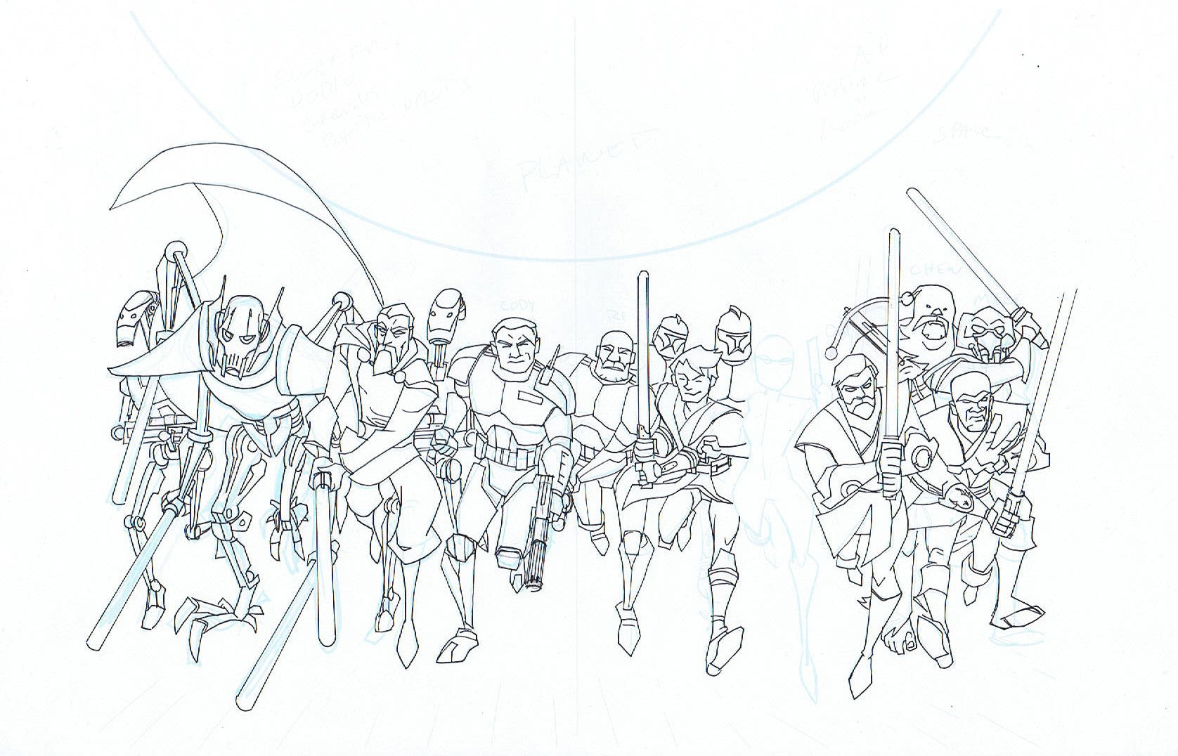 STAR WARS ADVENTURES: CLONE WARS #1 WRAP COVER + LAYOUT