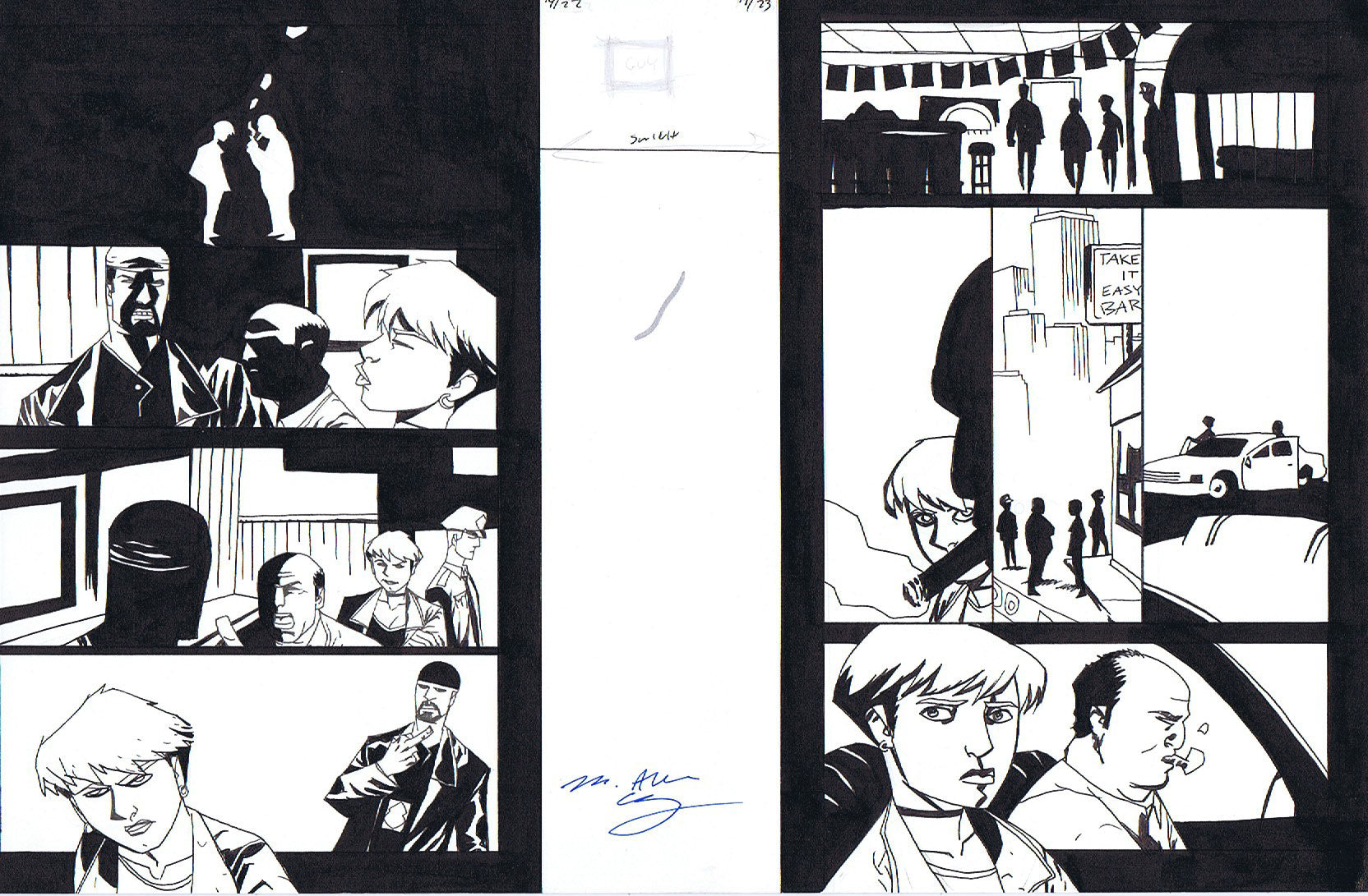 Powers v2: Secret Identity #19 Pages 22-23 Double Page