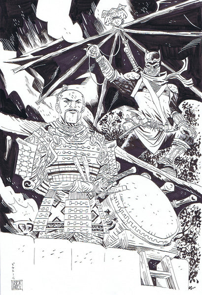 "Batman & Gordon as ""Other worlds"" Samurai Pin-Up"