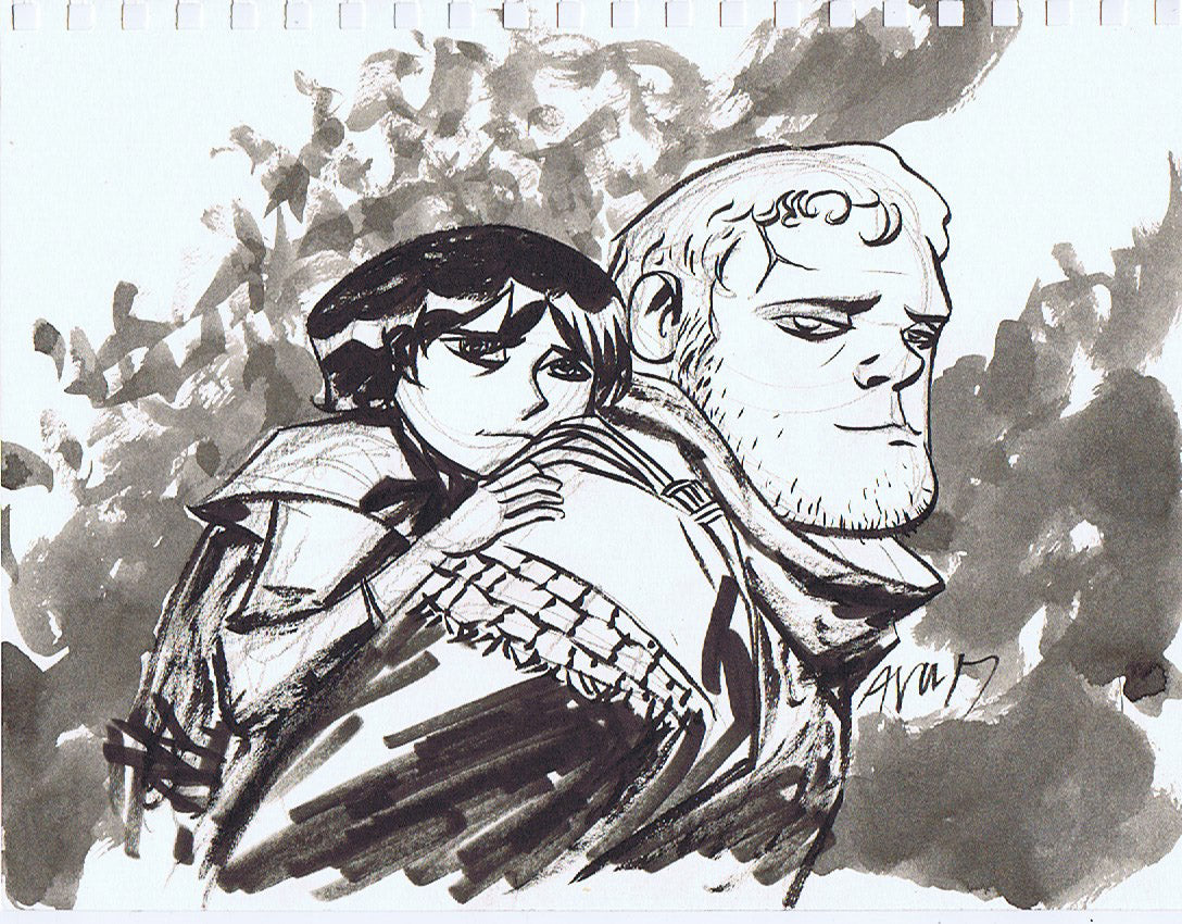 Game of Thrones - Bran and Hodor Pin-Up