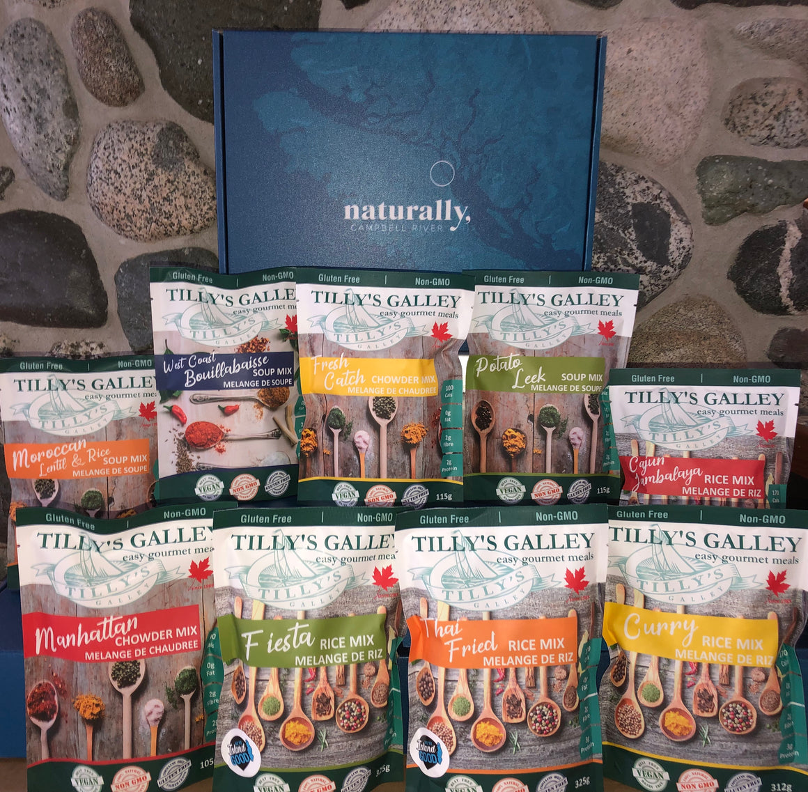 Limited Availability - Naturally, Campbell River box with 9 Tilly's meal mixes!