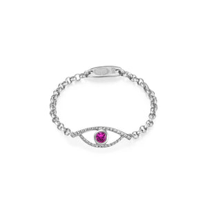 YOUNG BY DILYS' Celestial Eye Pink Sapphire Ring in 18KWG