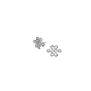 YOUNG BY DILYS' Legacy Eternal Knot Stud Earrings in 18KWG